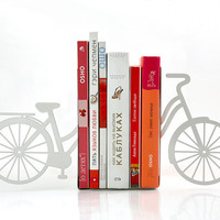 Bookends - My white bike - laser cut for precision these metal bookends will hold your favorite books
