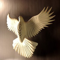 Peace Dove wood carving by Jason Tennant Wall by jasontennant
