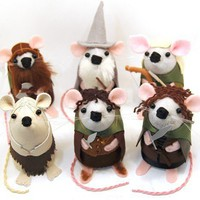 Lord of the Rings set of 6 mice cute felt by TheHouseOfMouse