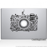 Camera Apple vinyl decal sticker (for macbook pro 11'', 13'', 15'', 17'' or ipad / ipad2 / ipad3)