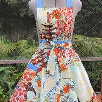 Vintage Inspired Womens Full Apron The Koto by ApronsByVittoria