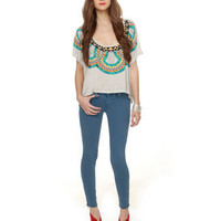 Blank NYC Spray On Jeggings - Blue Jeggings - Blue Skinny Jeans - Blue Jeans - $82.00