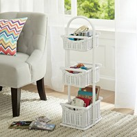 Hideaway Basket Storage Tower