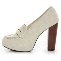C Label Mindy 1 Ice Penny Loafer Platform Heels - $29.00