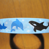 Dolphins and Whales Design Japanese Deco Tape  - Prime Nakamura