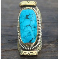 Natalie B Jewelry Brass Tibet Ring