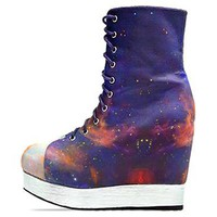 Jeffrey Campbell X BlackMilk Back Off in Rainbow Galaxy at Solestruck.com
