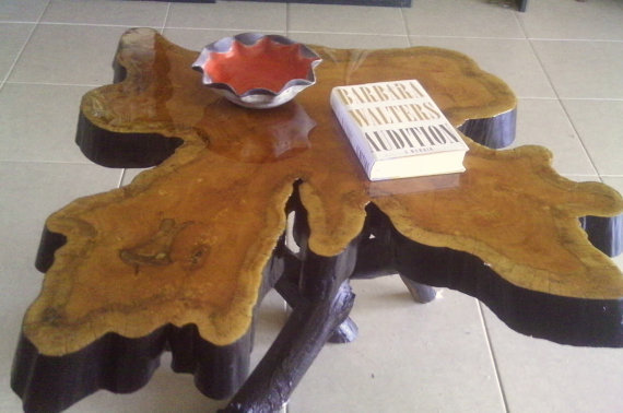 Cypress Coffee Table made from 300 year old sinker by KoiPottery
