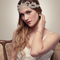 Bridal Crown Headpiece - Victorian Rhinestone Halo Headband