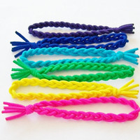 Bungee Band Hair Tie Bracelets, Pick-A-Color by Lucky Girl Hair Ties