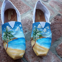 Beachy Hand-Painted Toms