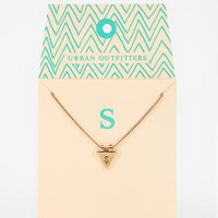 Urban Outfitters - Triangle Initial Gift Card Necklace