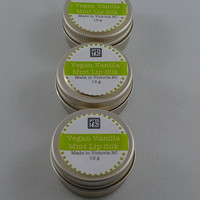 Vanilla Mint Lip Vegan Tint Balm by 2bloomsdesignstudio on Etsy