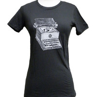 Writer&#x27;s T-shirt - Typewriter print on Ladies T-shirt - (Available in S, M, L, XL)