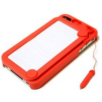 Amazon.com: Hoter Creative Drawing Board Protective Case for iPhone 4/4S - Red: Cell Phones &amp; Accessories