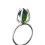 The Tulip Ring - Sterling Silver And Peridot Ring Size 8 | Luulla