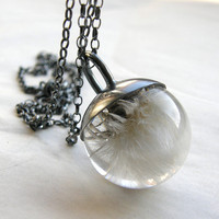 Last Blowball of Summer Pendant Grey by sisicata on Etsy