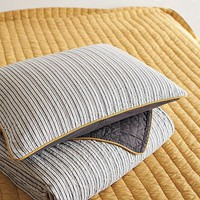 Tailored Stripe Coverlet + Sham