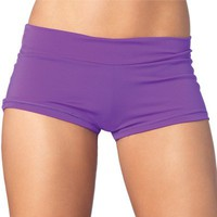 Purple Hot Pants from Leg Avenue : Spandex Boy Shorts and Booty Shorts from RaveReady