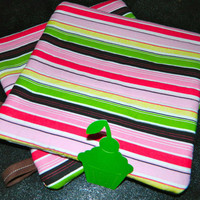 Candy Striped Oven Hot Pads with Cupcake Tags by GrowingPhasesFarm