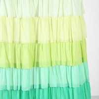 Ombre Ruffle Shower Curtain
