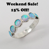 WEEKEND SALE Chic opal sterling silver ring (sr-9531). birthday gift for her, gift ideas, every day rings
