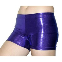 GemGear Metallic Purple Spandex Volleyball Shorts