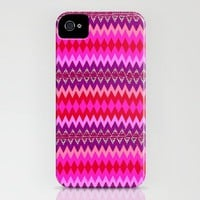 pink native pattern iPhone Case by Romi Vega | Society6