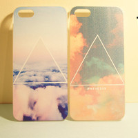 TuT TuT Fashion  Printed Galaxy Cosmic Triangle Iphone 5