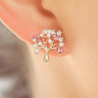 Sparkly Tree Fashion Earrings | LilyFair Jewelry