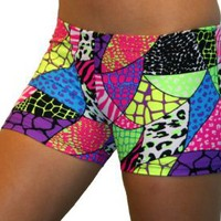 "Amazon.com: GemGear Jungle Print 2.5"" Inseam Compression Shorts: Clothing"