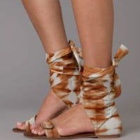 Batik Wrap Sandal