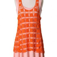 Peach Pink Sleeveless Pleated Dress