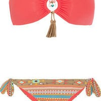 Emam|Aymara embellished bandeau bikini|NET-A-PORTER.COM