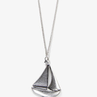 Sailboat Necklace | FOREVER 21 - 1026662269