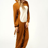 Cheryl Monkey Hooded Loopback Onesuit
