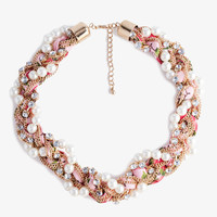 Braided Floral Necklace