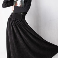 classic circular long skirt by xiaolizi on Etsy