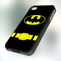 PCFA78 Batman Super Hero Costume - For IPhone 5 Black Case / Cover