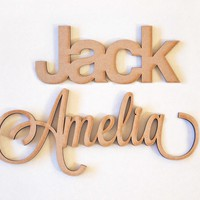 Custom Wood Names - Two Styles Available!