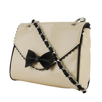 Contrast Bow Handbag | FOREVER21 - 1070221724