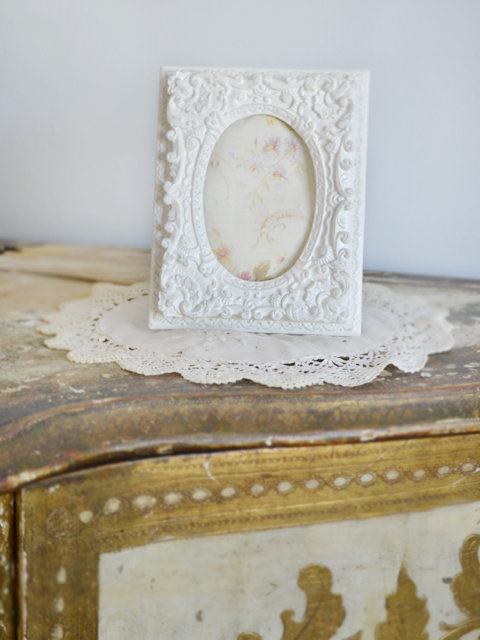 Small Shabby White Antique Style French Picture Frame - The Bella Cottage