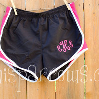 Monogrammed Running Shorts  Ladies and Junior by MiniSparrows