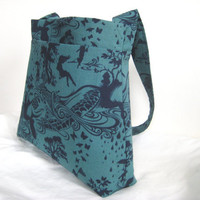 Tote/Handbag in Fantastical Indigo Printtake a by moxiebscloset