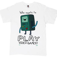 Who Wants To Play Video Games? - Adventure Time T-shirt by MyTeeSpot - Teenormous.com