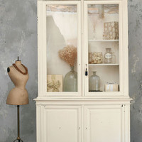 Vintage Grand Display Case in Off White - The Bella Cottage