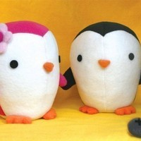 Cute Penguin stuffed animal Pattern - PDF