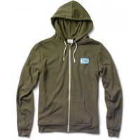 Unisex Military Green Embroidered Logo Classic Hoodie | TOMS.com