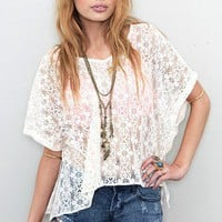 Show Me Your Mumu - Hippie Crochet Huck Top - NEW