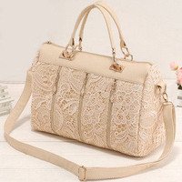 Bestgoods  Nice Unique Lace Handbag Shoulder Bag